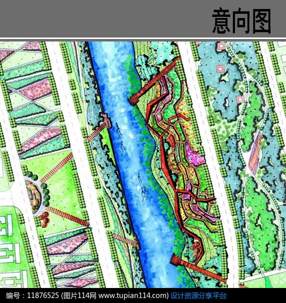 [原创] 滨水景观台地平面图