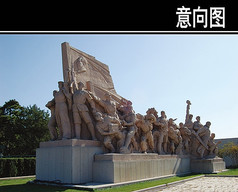 红军雕塑小品