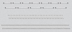 针线缝边 分割线PSD平面