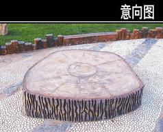 树根纹路铺装