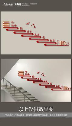 校园励志楼梯文化墙