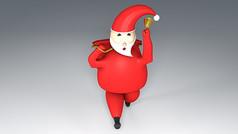 圣诞老人C4D字体模型