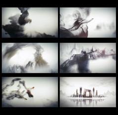 水墨中国元素视频片头模板