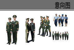 军装的人物素材