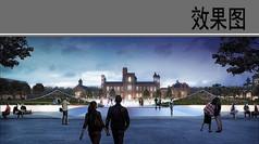 大学建筑景观效果图