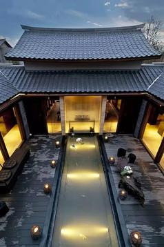 日式古典建筑景观