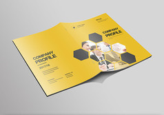 黄色大气企业画册封面