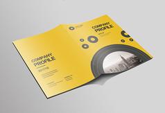 简洁黄色企业画册封面