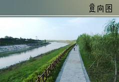 滨水护坡道路