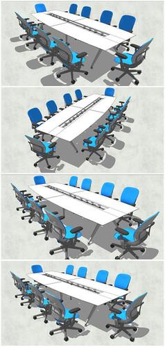长方形会议桌