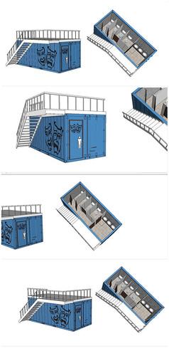 集装箱公厕建筑SU模型
