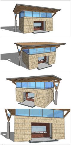 精品公共卫生厕所SU模型