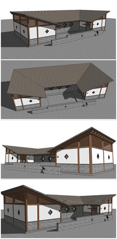 公共卫生间厕所建筑SU模型