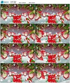 圣诞节圣诞老人背景视频