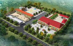 小办公厂区绿化鸟瞰图