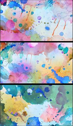 精美彩色涂鸦动态视频素材