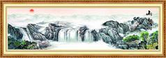 山水装饰风景画
