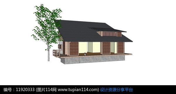 斜面屋顶休闲别墅图片