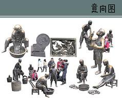 铸铜雕塑素材