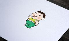可爱卡通金童形象设计