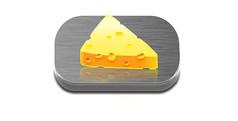 奶酪写实图标拟物图标