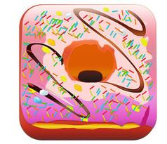 甜甜圈写实图标拟物图标