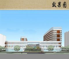 儿童医院建筑方案设计效果图
