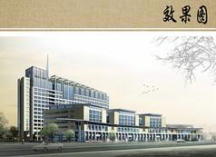 妇女儿童医院建筑设计透视图