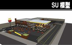 玻璃外形餐厅SU模型