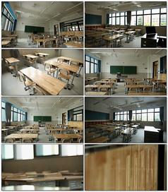 学校整齐教室空镜视频