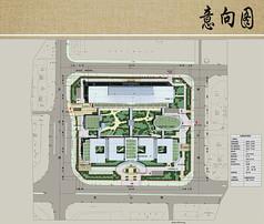 医院建筑与景观规划设计总平面