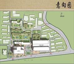 儿童医院建筑布局平面图