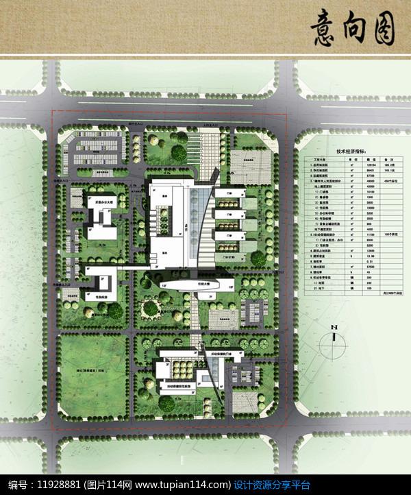 点建筑功,车床+1医院建筑医院总平面平面赞成布局积分建筑设计布局夹具设计医院回转专用图片