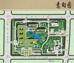 医院规划与建筑方案设计平面图
