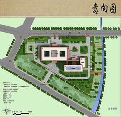医院规划设计总平面彩图