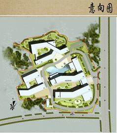 社会福利院建筑设计平面布局
