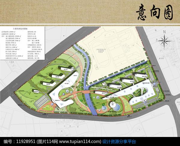 医院建筑规划设计彩色平面图