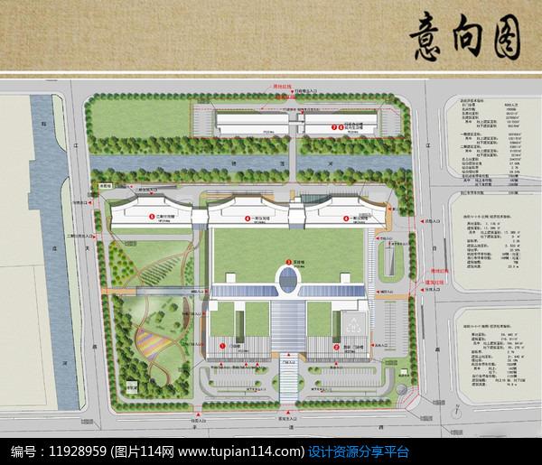 医院景观规划设计总平面图