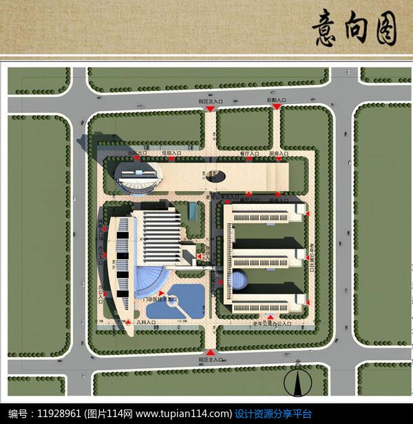 医院新区建筑设计平面布局图