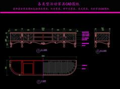 美式电视柜CAD图纸