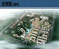 校园规划设计鸟瞰图