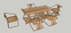 茶几 椅子 草图大师模型