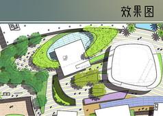 广场规划彩平图