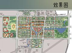 大学城商务区规划彩平