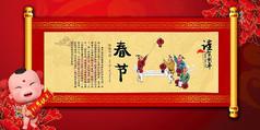 节日风俗春节新年小报