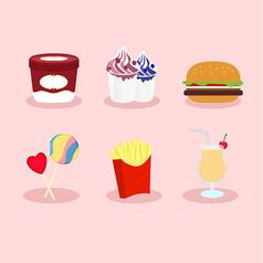 可爱手绘食物素材