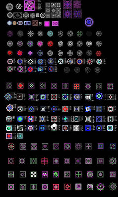 方形拼花图案集