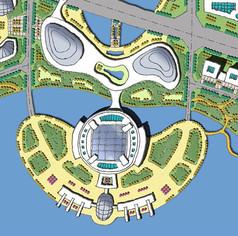 城市设计手绘平面