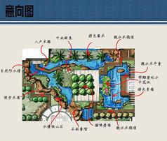 中心水景设计平面图