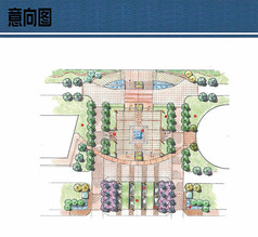 广场设计节点平面